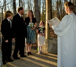 Gazebo wedding at Amicalola Falls